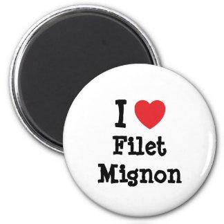 Amo la camiseta del corazón del Mignon de prendede Imán