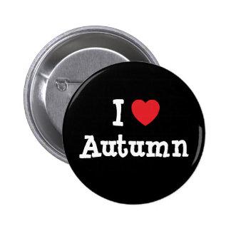 Amo la camiseta del corazón del otoño pin