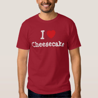 Amo la camiseta del corazón del pastel de queso playeras