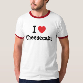 Amo la camiseta del corazón del pastel de queso polera