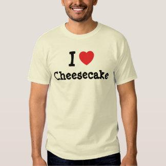 Amo la camiseta del corazón del pastel de queso remeras