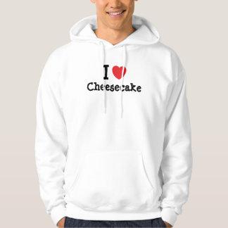 Amo la camiseta del corazón del pastel de queso suéter con capucha