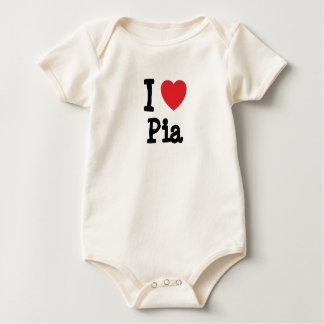 Amo la camiseta del corazón del Pia Mameluco