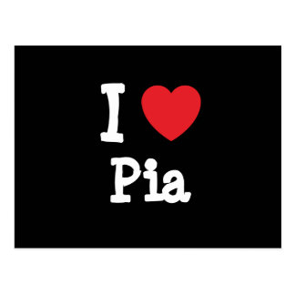 Amo la camiseta del corazón del Pia Postal