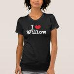 Amo la camiseta del corazón del sauce