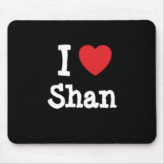 Amo la camiseta del corazón del Shan Tapetes De Ratones