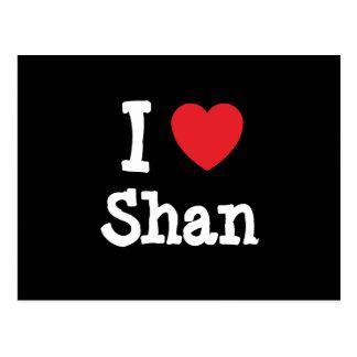 Amo la camiseta del corazón del Shan Postal