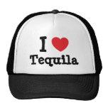 Amo la camiseta del corazón del Tequila Gorros