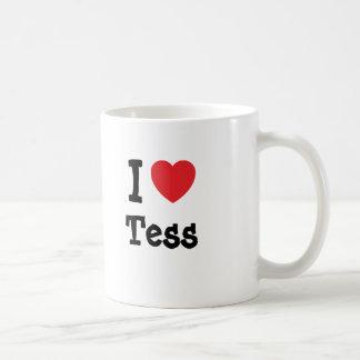 Amo la camiseta del corazón del Tess Taza Clásica