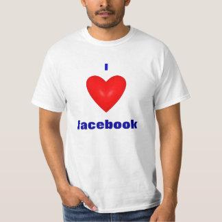Amo la camiseta del facebook playeras
