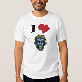 AMO la camiseta del gráfico de los ZOMBIS Remeras
