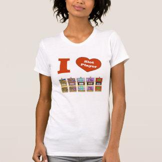 AMO la camiseta del jugador de la ranura de las má Playera