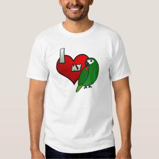 Amo la camiseta del Macaw de mi Hahn Playeras