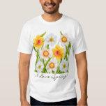 Amo la camiseta del narciso de la primavera playera