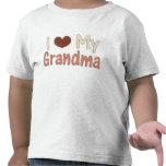 Amo la camiseta del niño de la abuela