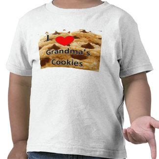 Amo la camiseta del niño de las galletas de la