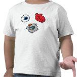 Amo la camiseta del niño de los zombis