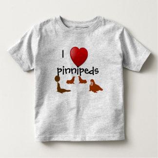 Amo la camiseta del niño de Pinnipeds Playera De Niño