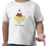 Amo la camiseta del niño del helado