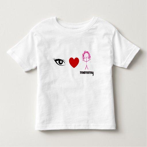 Amo la camiseta del niño del niño de la mamá