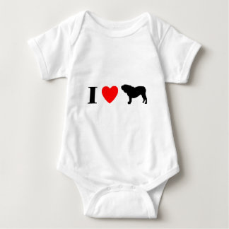 Amo la camiseta del niño inglés de los dogos