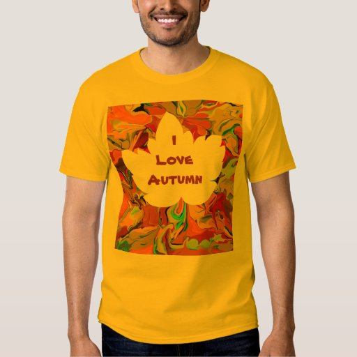 amo la camiseta del otoño remeras