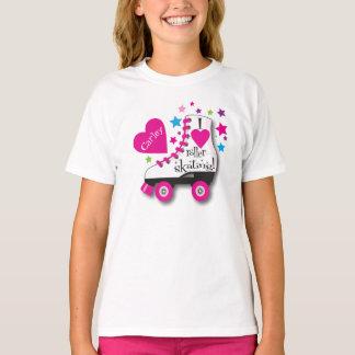 Amo la camiseta del patinaje sobre ruedas