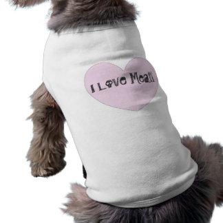 Amo la camiseta del perrito de la carne camisetas de perro