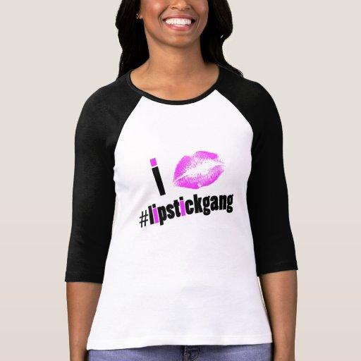 Amo la camiseta del raglán del #lipstickgang