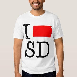Amo la camiseta del SD Dakota del Sur Remeras