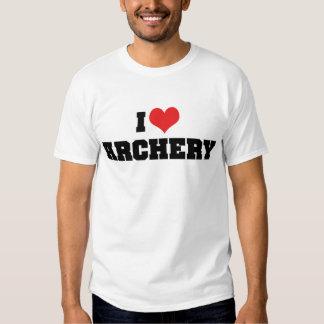 Amo la camiseta del tiro al arco remera