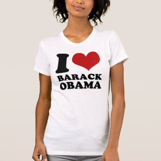 Amo la camiseta del vintage de Barack Obama Playera