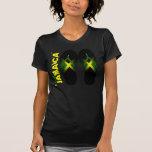 Amo la camiseta destruida las señoras de Jamaica