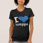Amo la camiseta destruida oscuridad de las mujeres
