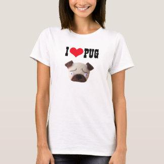 Amo la camiseta divertida linda del perro del