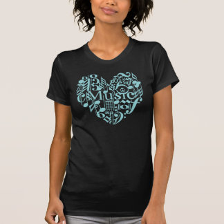 Amo la camiseta escarpada de las señoras Twofer de