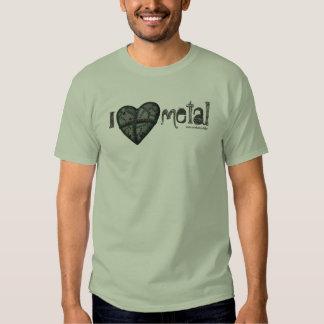 Amo la camiseta fresca del arte gráfico del polera