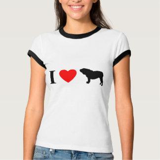Amo la camiseta inglesa de las señoras de los