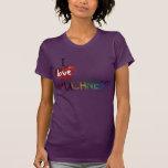 Amo la camiseta inspirada del brillo de la CANTIDA