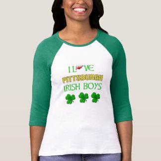 Amo la camiseta irlandesa de los muchachos de remeras