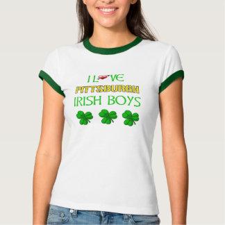 Amo la camiseta irlandesa del campanero de los poleras