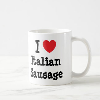 Amo la camiseta italiana del corazón de la taza clásica