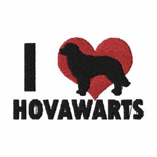Amo la camiseta larga bordada Hovawarts de la