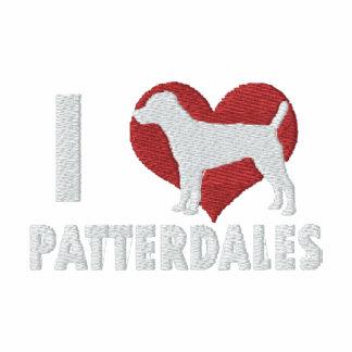 Amo la camiseta larga bordada Patterdales de la