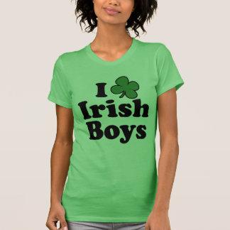 Amo la camiseta linda del trébol de los muchachos  playera