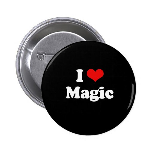 Amo la camiseta mágica pin redondo de 2 pulgadas