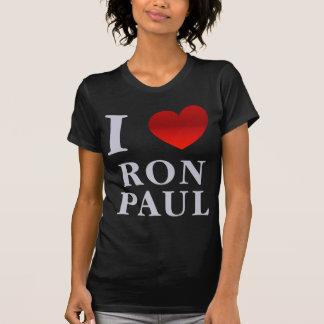 Amo la camiseta menuda de las señoras de Ron Paul Remeras