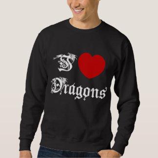 Amo la camiseta negra de los dragones suéter
