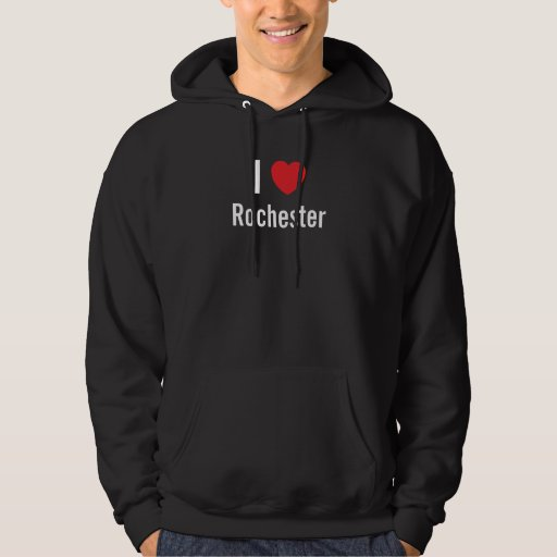 Amo la camiseta negra de Rochester Sudaderas