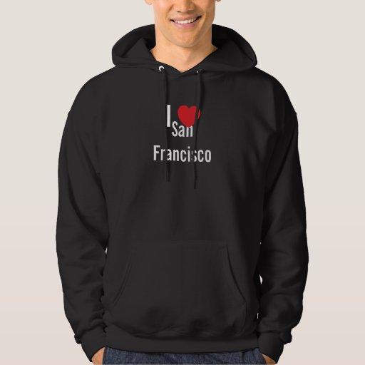Amo la camiseta negra de San Francisco Sudaderas